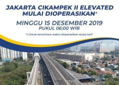 Jalan Tol Jakarta-Cikampek II Elevated Bisa Dilalui Besok Secara Gratis